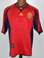 SPAIN NATIONAL TEAM 1998/1999 HOME FOOTBALL SHIRT JERSEY ADIDAS SIZE M ADULT