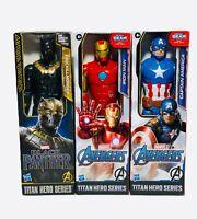 Marvel Avengers Titan Hero Series 12' Figure Lot of 3 Iron Man Black Panther NEW