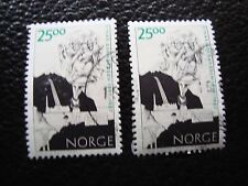 NORVEGE - timbre yvert et tellier n° 1215 x2 obl (A30) stamp norway