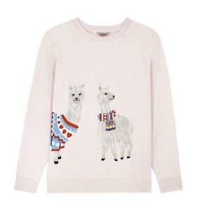 CATH KIDSTON Alpaca Llama Pink Sweatshirt Top SIZE XS / UK 8 - 10 NEW with Tag