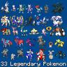 33 Legendary Pokemon 6IV Max EVs / Home Sword Shield / 31 Master Balls Zarude