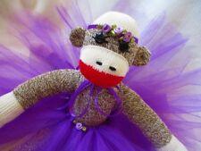 Sock Monkey Ballerina Doll by Starlight Sock Monkeys Handmade