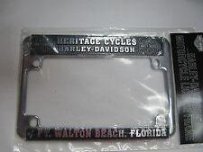 HERITAGE CYCLES HARLEY-DAVIDSON FT WALTON BEACH FL DEALER LICENSE FRAME