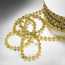 Gold 3 mm x 24 yards Beaded String Garland Wedding Party Crafts Decorations Sale