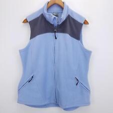 Champion Women's Sleeveless Solid Blue Full - Zip Vest - Size XL - Polyester