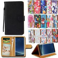For Samsung Galaxy S S2 S3 S4 S5 - Leather Smart Stand Wallet Cover Case