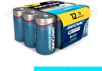 Rayovac D Batteries, Alkaline D Cell Batteries (12 Battery Count) D 12 Count