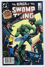 SAGA OF THE SWAMP THING 24 7.0 7.5 ALAN MOORE NEWSTAND 1984  PTC