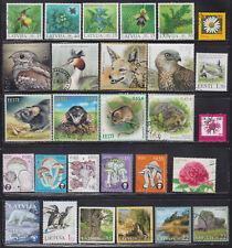 Estonia ,Latvia ,Lithuania 49 used stamps  - Faun, Flora, Nature