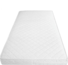 QUILTED/&WATERPROOF BREATHABLE BABY  COT BED//TODDLER MATTRESS 118 x 56 x 10 cm