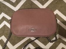 Coach Isla Crossbody Dusty Rose Pink Mauve Blush pebble Leather  NWT Bag Purse