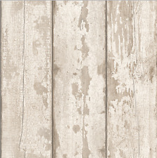 Arthouse White Washed Wood Panel Cladding Timber Wallpaper (694700)