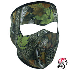 ZANheadgear® Neoprene Full Face Mask, Forest Camo design, WNFM238, Stretch