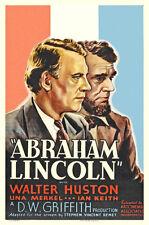 "Abraham Lincoln,  Movie Poster  Replica 13x19"" Photo Print"