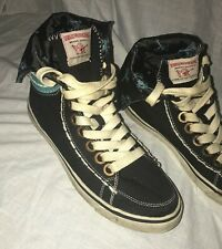 TRUE RELIGION  Sneakers High Top Fold Over  Buddha Shoes Size Womens 9 Mens 8