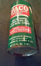 vintage 1950s Paco denatured alcohol solvent can shellac thinner Philadelphia PA