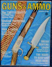Vintage Magazine GUNS & AMMO September, 1965 !!! World's WACKIEST FIREARMS !!!