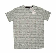 NEW! AUTHENTIC PULL & BEAR MEN'S PRINTED T-SHIRT TOP (GRAY GELATO, SIZE LARGE)