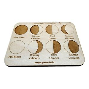 Phases of the Moon Educational Board - Montessori Toy - Moon Phases - Teaching A