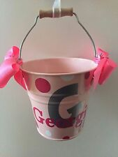 Easter Bucket - Basket Personalised Name Choose Colours Suitable for Egg Hunt