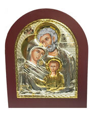 Icon Sale The Family Byzantine Icon Sterling Silver 925 Size 19x15cm