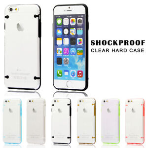 Clear Hard Back Silicone Silicone Case Cover For Apple iPhone SE6 6s 7 8 Plus