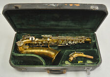 "USED ""AS IS"" 1936 MARTIN HANDCRAFT ALTO SAX, (SEARCHLIGHTS & SKYLINE ENGRAVING)"