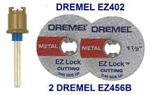 NEW AUTHENTIC DREMEL EZ LOCK EZ402, EZ456B CUTTING DISC 3 PIECE SET
