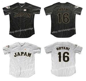 Retro Shohei Ohtani #16 Japan Baseball Jerseys Stitched Angels Fans Shirts