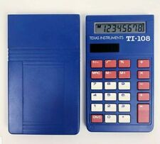 Texas Instruments Ti-108 School Solar Calculator Blue Basic with Cover New