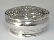 """Small hallmarked Sterling Silver Rose / Posy Bowl (4"""") –  1994  (90g silver)"""