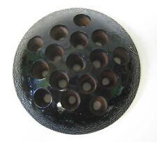 Vintage Black Pressed Glass Flower Frog 30's/40's