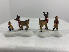 Santa's Helpers Elves & Gifts w/ Reindeer Figures 91200 -Hawthorne Architectural