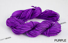 1mm Chinese Knot Nylon Shamballa Macrame Braiding Cord Beading String Pick Color
