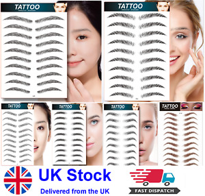 Eyebrows Tattoo Sticker Hair Look False Eyebrow Real Waterproof Stick On Eye