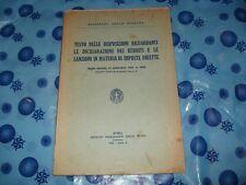 DICHIARAZIONE DEI REDDITI E SANZIONI IMPOSTE DIRETTE Ed. Roma 1932