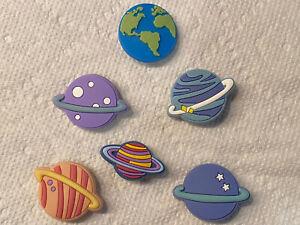 Planets  6 Pc Shoe Charm Set! NEW! For Crocs, Clogs