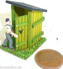 Outhouse rural Maison toilette avec Bauer Bois Preiser 1:87 H0 #GD1 PR5 å