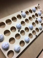 More details for golf ball display  - wall mounted - signed - hole in 1 - lowest round - 44 balls