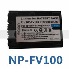 Battery for NP-FV100 SONY DCR-SR62 DCR-SR68 DCR-SR80 HDR-CX116E HDR-CX115E