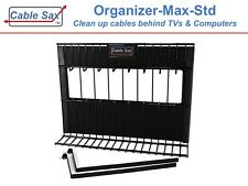 TV and Computer - Cable Organizer - Clean Up Cables CABLE SAX ORGANIZER_MAX_STD