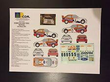 DECALS 1/24 FORD ESCORT SAINZ REPSOL RALLYE SAN REMO ITALIA 1997 WRC RALLY