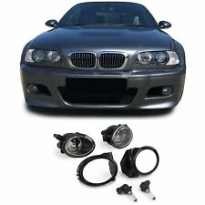 BMW E46 M SPORT & M3 + E39 M SPORT M5 CLEAR FOG LIGHTS + BRACKETS & SURROUNDS