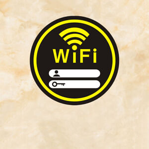 Internet Signal Indication Public Acrylic Wifi Password Sign Plate Wall Sticker