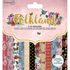 Dovecraft 6x6 Paper Pad - Folkland - Scrapbooking Cards