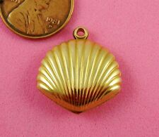 3-D Shell Drop-2 Pc(s) Vintage Design Antique Brass