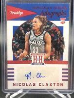 Nicolas Claxton 2019-2020 panini chronicles hometown heroes red auto NJ Nets