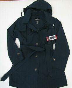 LONDON FOG Womens Dark Teal Jacket Trench Coat NWT Size M Medium