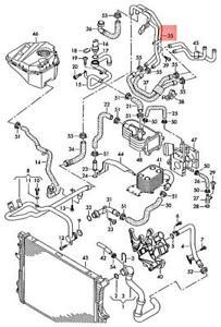 Genuine VW AUDI Touareg Q7 7L6 7LA Coolant Pipe See Illustration 7L6121065AD