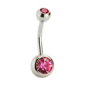 1x Crystal Rhinestone Fashion Jewelry Body Piercing Navel Bar Ring Belly Button